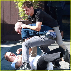 Zac Efron Gets Into Fake Fight On 'We Are Your Friends' Set
