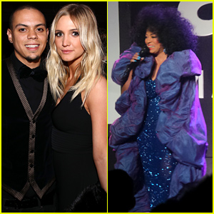 Ashlee Simpson & Evan Ross Support His Mom Diana Ross at amfAR Gala!