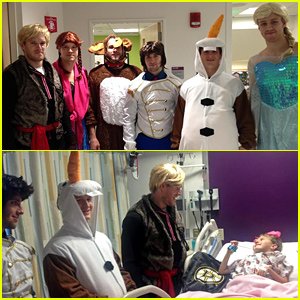 Boston Bruins Hockey Players Dress Up as 'Frozen' Characters to Meet Sick Children for Halloween