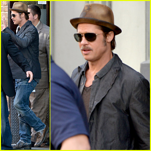 Brad Pitt's 'Fury' Cast Members Were All Vying For His Attention On Set!