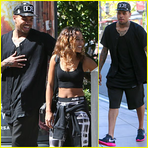 Chris Brown & Karrueche Tran Look Like a Happy Couple in L.A.