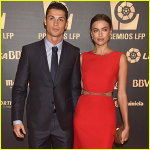 Irina Shayk & Cristiano Ronaldo Make Rare Red Carpet Appearance at LFP Awards 2014!