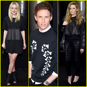 Dakota Fanning & Eddie Redmayne Watch Karlie Kloss Hit The Runway at Alexander Wang X H&M Launch!