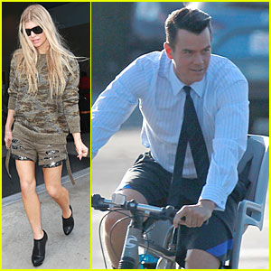Fergie & Josh Duhamel Use Different Modes of Transportation in Los Angeles
