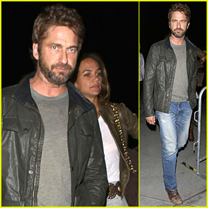 Gerard Butler & Mystery Girlfriend Root For Lakers In First Season Game!