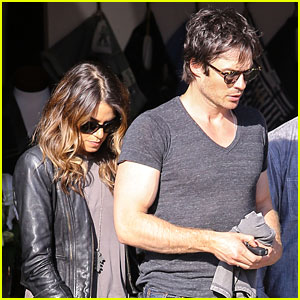 Ian Somerhalder's Biceps Bulge During Outing with Nikki Reed!