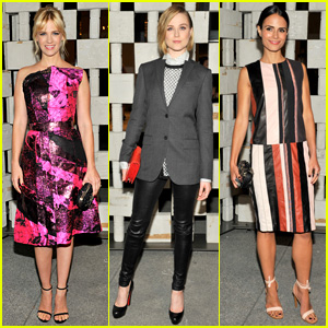 January Jones & Evan Rachel Wood are Garden Gala Girls