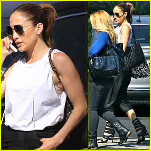 Jennifer Lopez Puts Her Impressive Arms on Display for Business Meeting