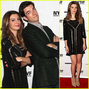 John Mulaney & Nasim Pedrad Lean on Each Other at New York Television Festival Event