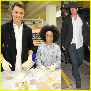 Josh Duhamel Helps Fight Childhood Hunger with #ShareAMeal Project in New York!