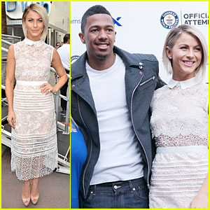 Julianne Hough & Nick Cannon Attempt to Break Guinness World Record For Most Selfies