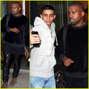 Kanye West Keeps Busy in NYC While Kim Kardashian Plans Four Halloween Costumes