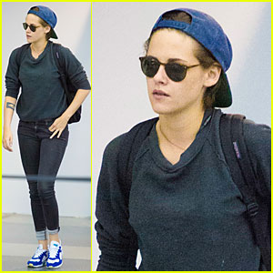 Kristen Stewart Jets to NYC Before 'Clouds of Sils Maria' Premiere