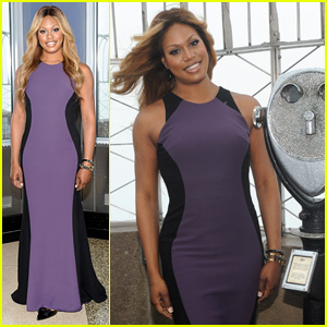 Laverne Cox Rocks Purple for Spirit Day at Empire State Building