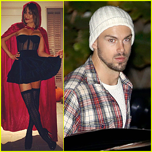 Lea Michele is Matthew Paetz's Little Red Riding Hood at Kate Hudson's Halloween Party