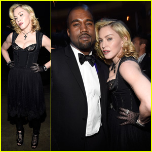 Madonna & Kanye West Self Obsess with Selfies at Black Ball
