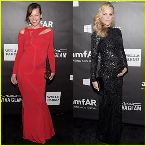 Milla Jovovich & Molly Sims Flaunt Baby Bumps at amfAR Gala!
