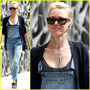 Naomi Watts Tunes Out the World During Post-Birthday Stroll