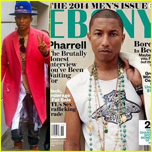 Pharrell Williams Discusses Race & Says 'I Love Black Women' for Ebony's November 2014 Cover