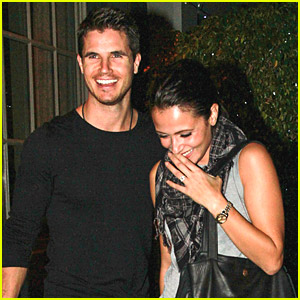 Engaged Couple Robbie Amell & Italia Ricci Make It An Italian Dinner Date