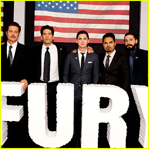 Shia LaBeouf & Logan Lerman Bring 'Fury' to the Nation's Capital