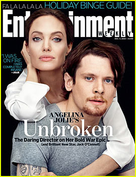 Angelina Jolie Joins Her Star Jack O'Connell on 'EW' Cover!