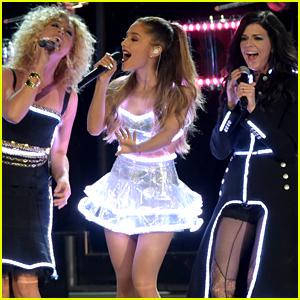 Ariana Grande is All Lit Up Performing 'Bang Bang' at the CMA Awards 2014 - Watch Now!