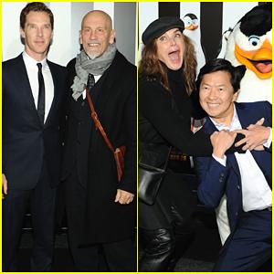 Benedict Cumberbatch Plays Around at the 'Penguins of Madagascar' Premiere
