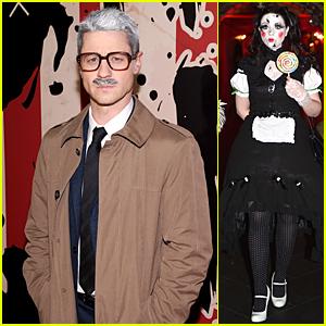Ben McKenzie & Michelle Trachtenberg Celebrate Halloween at Heidi Klum's Party
