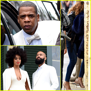 Beyonce & Jay Z Arrive for Solange Knowles' Wedding to Alan Ferguson!
