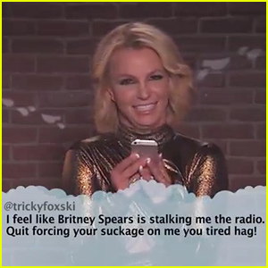 Britney Spears Reads a Very Mean Tweet About Herself & Can't Stop Laughing - Watch Now!