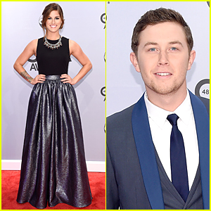 Cassadee Pope & Scotty McCreery - CMA Awards 2014 Red Carpet