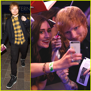 Ed Sheeran Hits Up MTV EMAs 2014