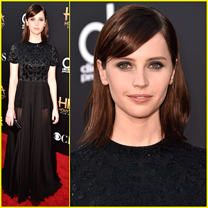 Felicity Jones Shows Support for Eddie Redmayne at Hollywood Film Awards 2014!