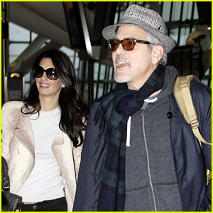 George Clooney & Wife Amal Fly Out of London on Th