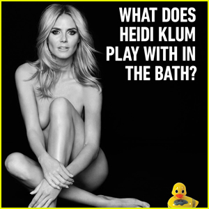 Heidi Klum Flaunts Naked Body For 'Sharper Image' Holiday Campaign