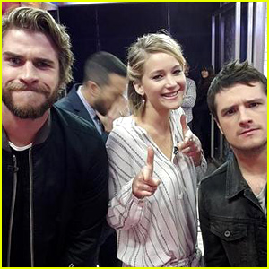 'Hunger Games' Trio Jennifer Lawrence, Liam Hemsworth, & Josh Hutcherson Are the Ultimate BFFs on 'GMA' - Watch Now!