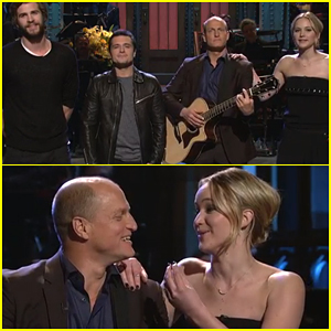 Jennifer Lawrence & Josh Hutcherson Help Woody Harrelson Sing His Version of 'Blank Space' - Watch Here!