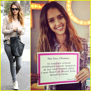 Jessica Alba Supports Cancer Research with Her Company