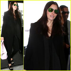 Jessica Biel Conceals Her Baby Bump Under a Bulky Coat