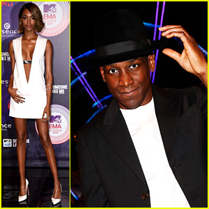 Jourdan Dunn & Labrinth See Beneath Your Beautiful at MTV EMAs 2014
