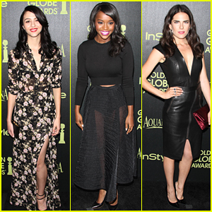 How To Get Away With Murder's Karla Souza & Katie Findlay Celebrate The Golden Globes