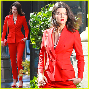 Kendall Jenner is Red Hot at a Photo Shoot After Her 19th Birthday