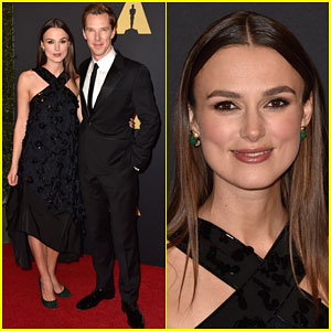 Keira Knightley & Benedict Cumberbatch Buddy Up for Governors Awards 2014