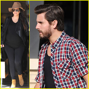 Kourtney Kardashian Shows Off Her Growing Baby Bump on a Shopping Trip with Scott Disick