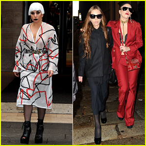 Lady Gaga & Allegra Versace Go Shopping Together in Milan