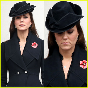 Pregnant Kate Middleton Takes a Moment of Silence to Remember Fallen Servicemen & Women