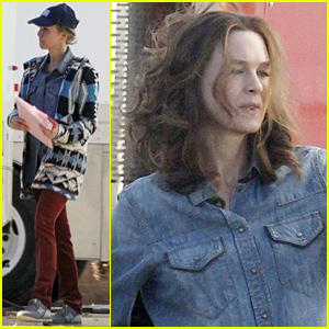 Renee Zellweger Rocks Totally Different Look in a Brunette Wig on Her New Movie Set!