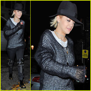 Rita Ora Goes Ice Skating, Records New Music For Debut Album