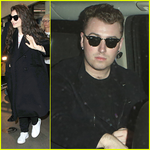 Lorde & Sam Smith Arrive at LAX Ahead of AMAs 2014